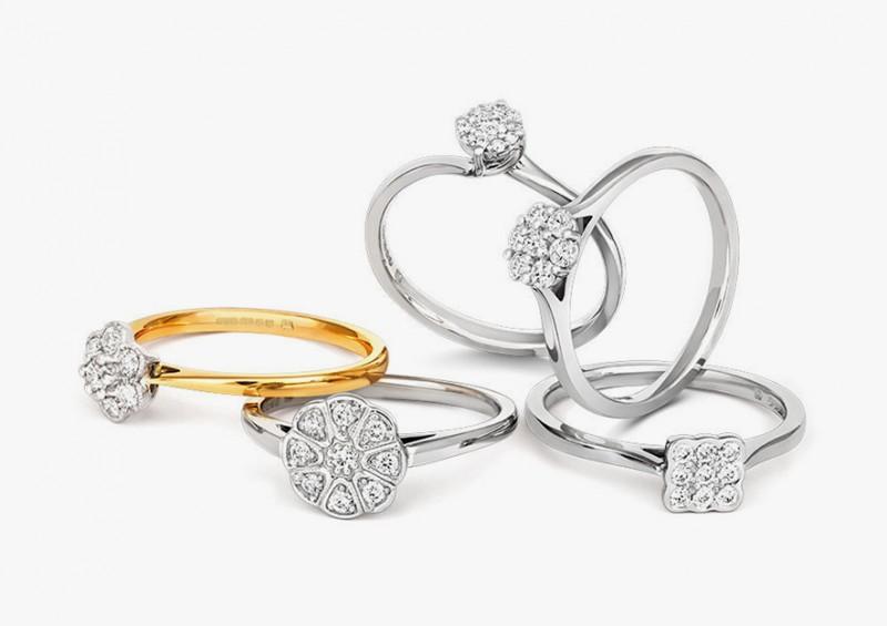 Обручальные кольца из коллекции Grace от Cred Jewellery