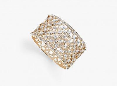 Браслет из розового золота с бриллиантами