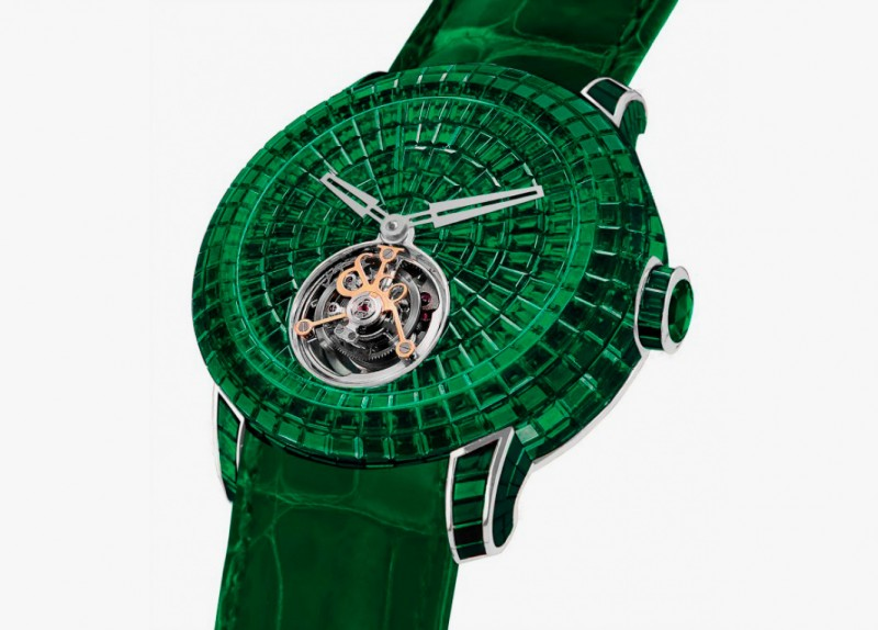Часы Caviar Emerald Tourbillon