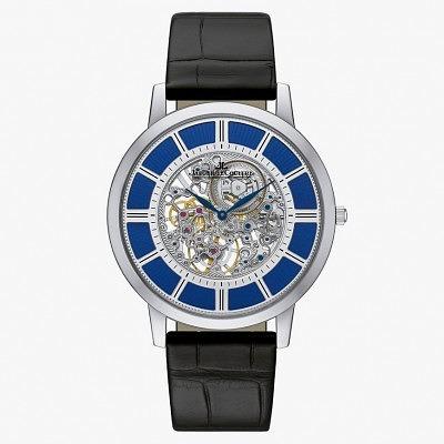 Часы Master Ultra Thin Squelette из белого золота с синей эмалью от Jaeger-LeCoultre