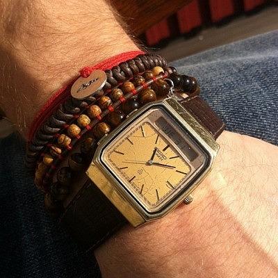 2_сочетание браслетов с часами для мужчины