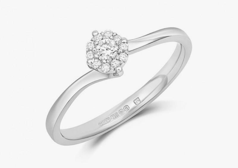 Кольцо Cara из белого золота с бриллиантами