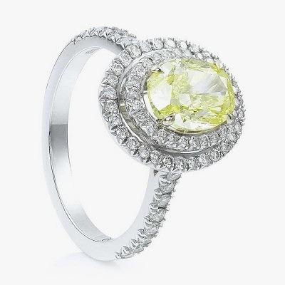 Фантазийный интенсивно-жёлтый бриллиант на обручальном кольце от Boodles