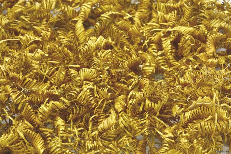 Общий вес золотого клада составил около 250 грамм