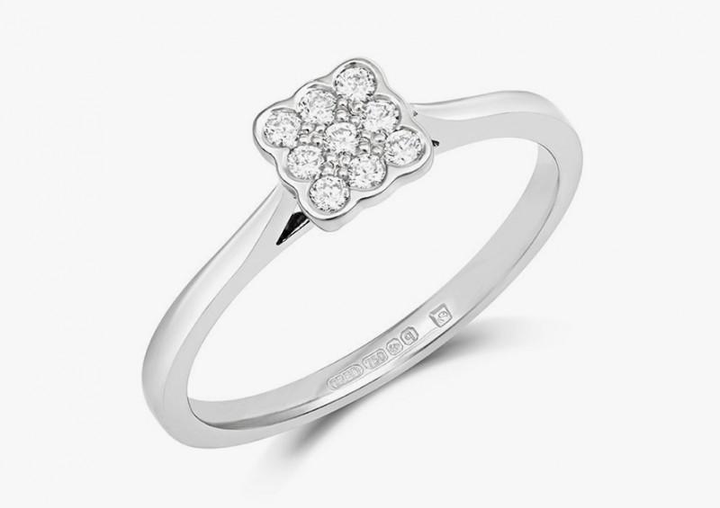 Кольцо Bella из белого золота с бриллиантами