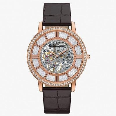 Часы Master Ultra Thin Squelette из розового золота с бриллиантами