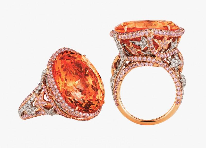 Кольцо с оранжевым сапфиром 46,64 карата