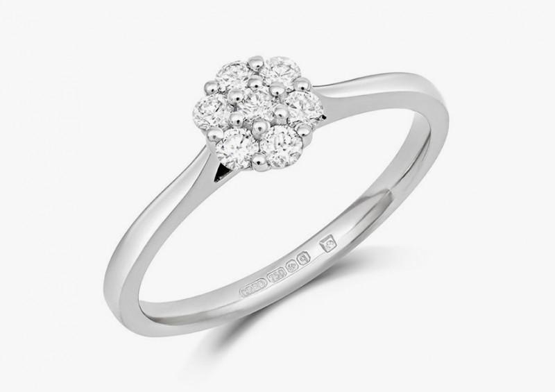 Кольцо Alcea из белого золота с бриллиантами