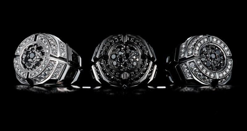 Мужские кольца с черными бриллиантами от Core Jewels
