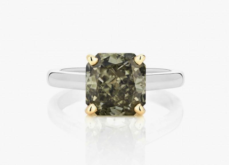 Изящное обручальное кольцо с серовато-зеленым бриллиантом из коллекции 1888 Master Diamonds