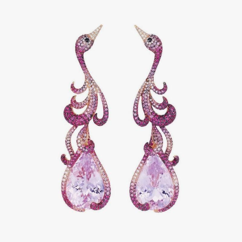 Серьги «Фламинго» от Chopard