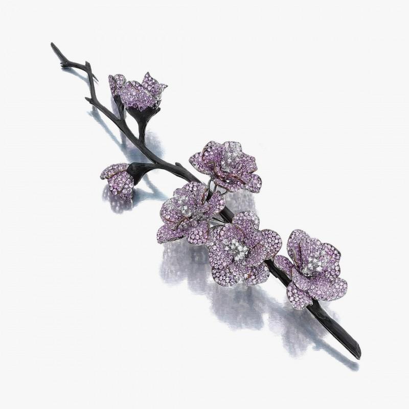 Брошь «Персиковые цветы» от Michele della Valle