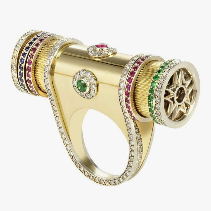 Вращающееся кольцо «Калейдоскоп» от Sybarite