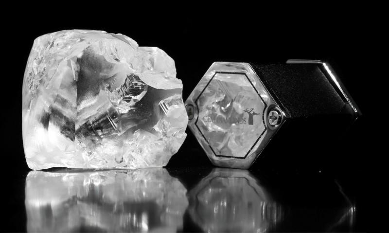 Алмаз весом 357 карат, добытый Gem Diamonds в Лесото в июле 2015 года