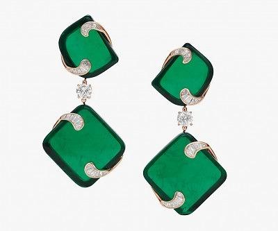 Серьги Hidden Treasures с изумрудами и бриллиантами