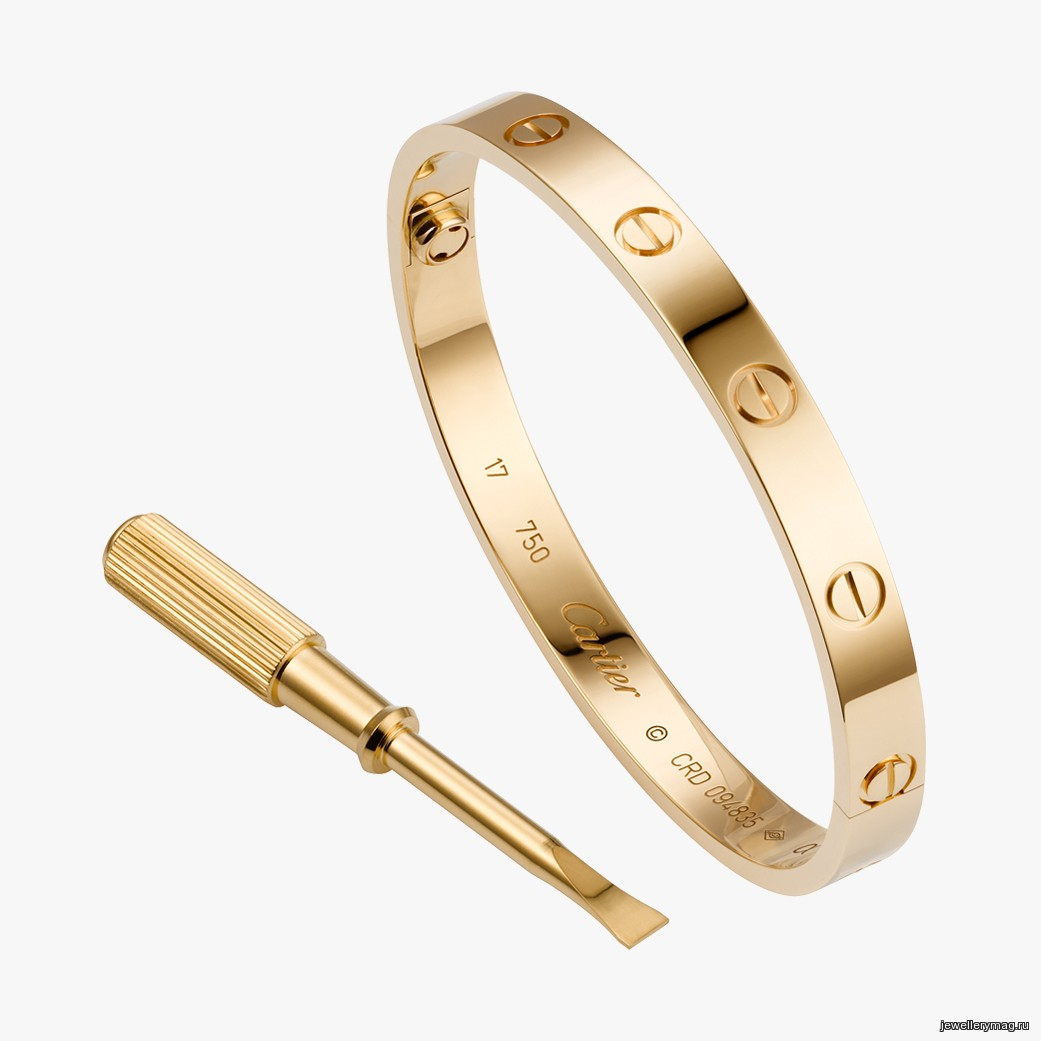 55e77833bb3 Браслет из розового золота с бриллиантами из коллекции LOVE от Cartier