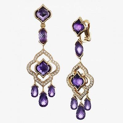 Серьги Imperiale с аметистами и бриллиантами от Chopard