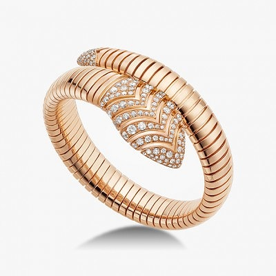 Золотой браслет Serpenti с бриллиантами от Bvlgari