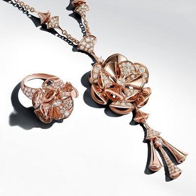 Колье и кольцо из коллекции Diva от Bvlgari