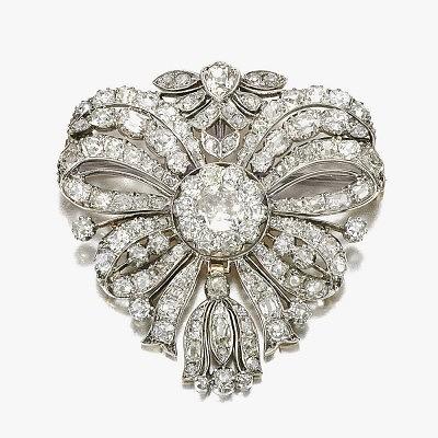 Бриллиантовая брошь конца XVIII века