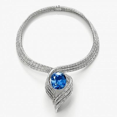 Колье со знаменитым голубым бриллиантом Хоупа