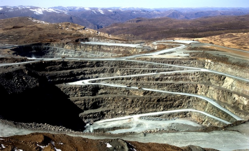 Шахты Летсенг в Лесото