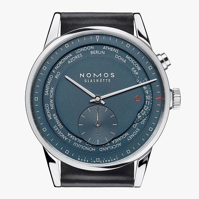 Часы Worldtimer True Blue от Nomos