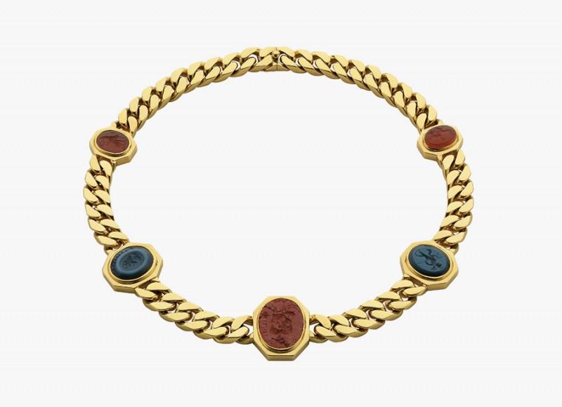 Золотое колье-цепь от Bulgari