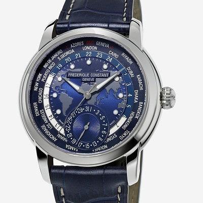 Часы Worldtimer Navy Blue от Frédérique Constant