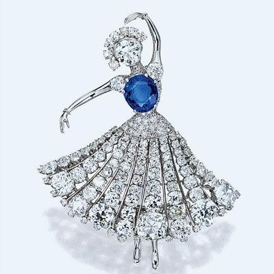Брошь Ballerina от Van Cleef & Arpels с сапфирами и бриллиантами