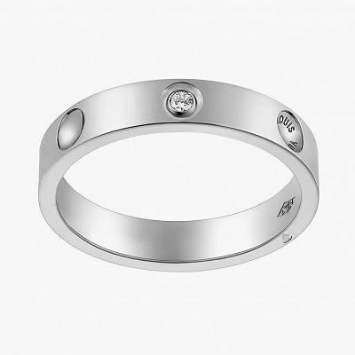 Платиновое кольцо с бриллиантом из коллекции Empreinteот Louis Vuitton