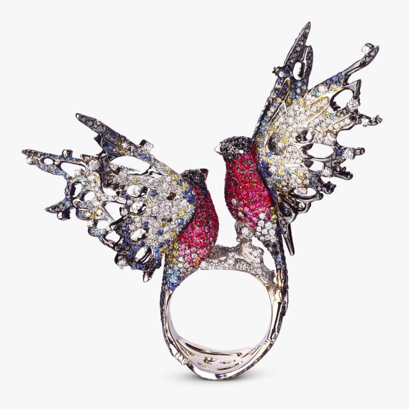 Кольцо «Снегири» от Ichien