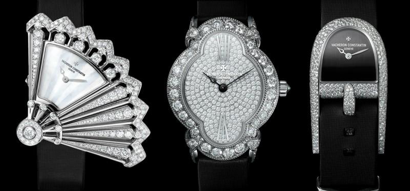 Коллекция часов Heures Créatives от Vacheron Constantin. Слева направо: Heure Discrète, Heure Romantique и Heure Audacieuse