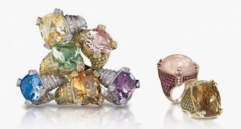 Яркие коктейльные кольца Judith Ripka
