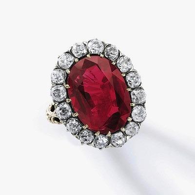 Кольцо Марии Жозе с рубином 8,48 карата