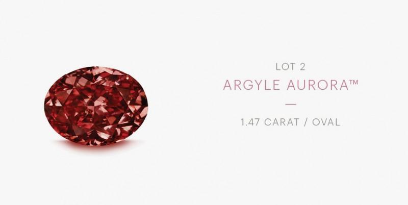 Красный бриллиант Rio Tinto Argyle Aurora
