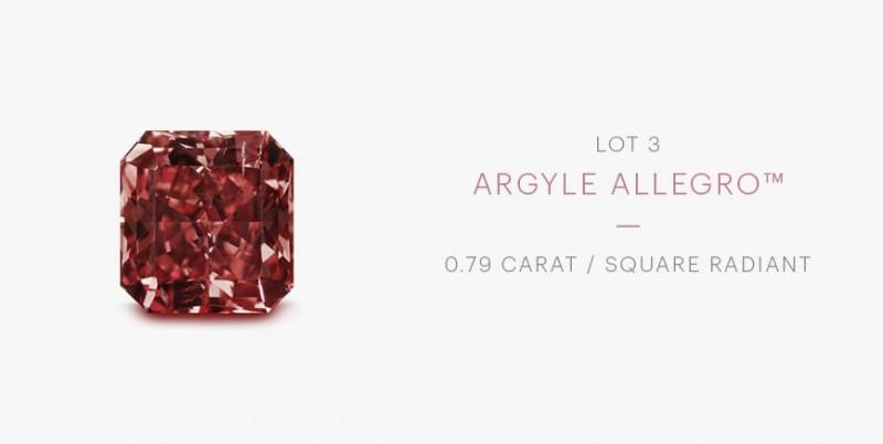 Красный бриллиант Rio Tinto Argyle Allegro