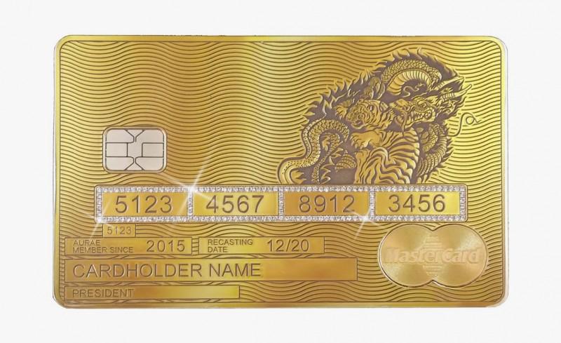 Solid Gold MasterCard Yin/Yang от Aurea