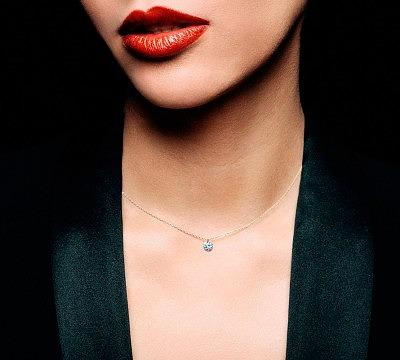 Чем моложе женщина, тем меньше должен быть бриллиант (кулон La Brune & La Blonde)