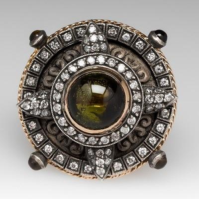 Кольцо с турмалинами и бриллиантами от EraGem