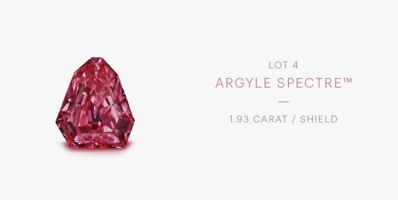 Красный бриллиант Rio Tinto Argyle Spectre
