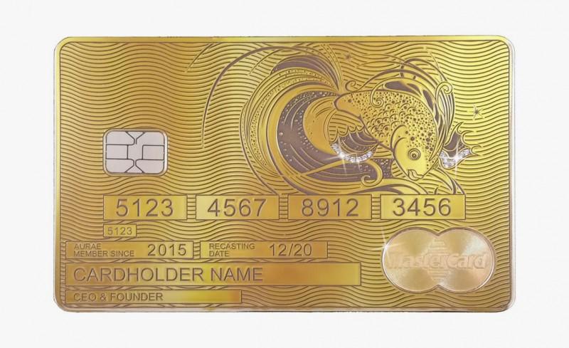 Solid Gold MasterCard Goldfish от Aurea
