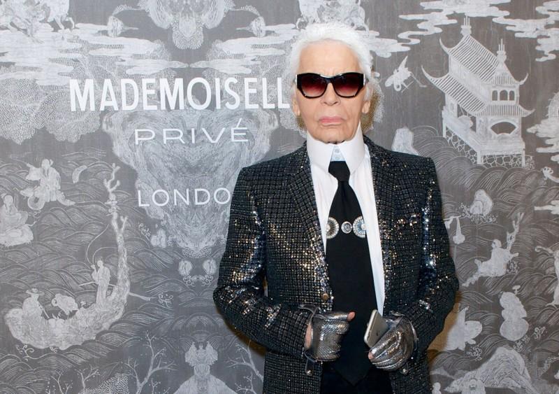 Карл Лагерфельд на выставке Chanel Mademoiselle Privé