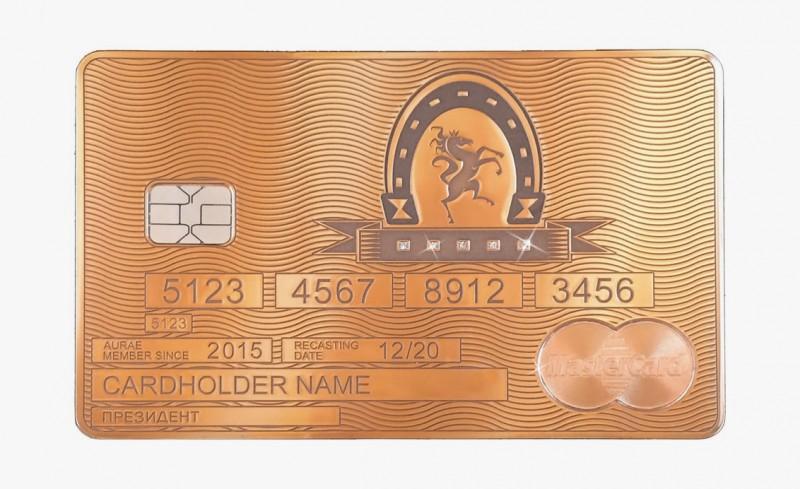 Solid Gold MasterCard Stallion от Aurea