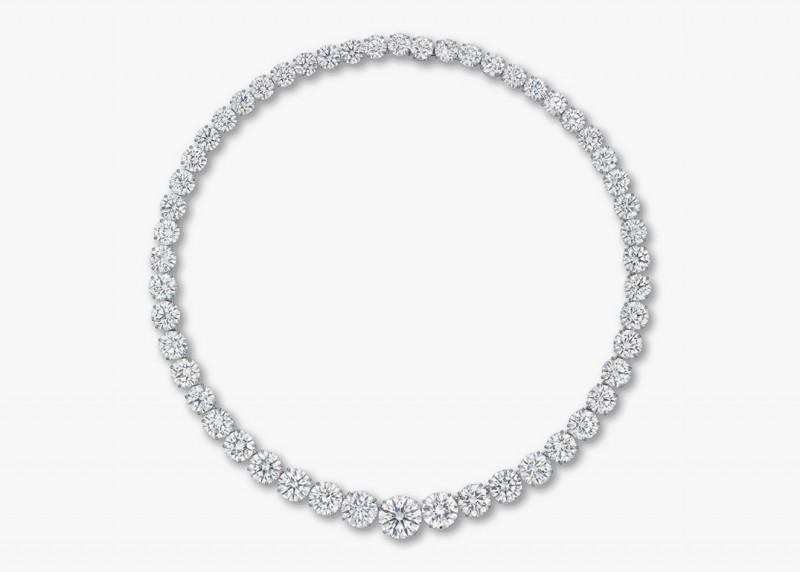 Колье Superb Diamond Rivière с 52 бриллиантами