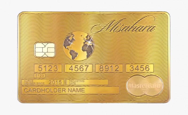 Solid Gold MasterCard Global Traveler от Aurea
