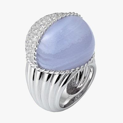 Кольцо Cartier с халцедоном и бриллиантами