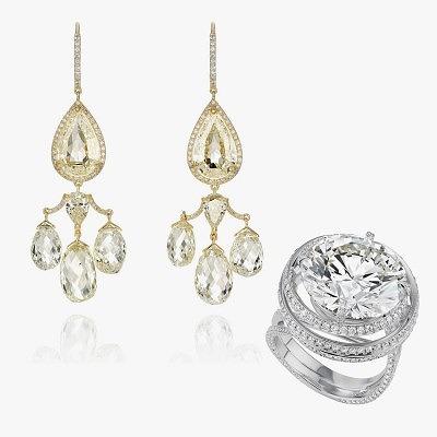 Серьги и кольцо Chopard, которые были надеты на Леа Сейду