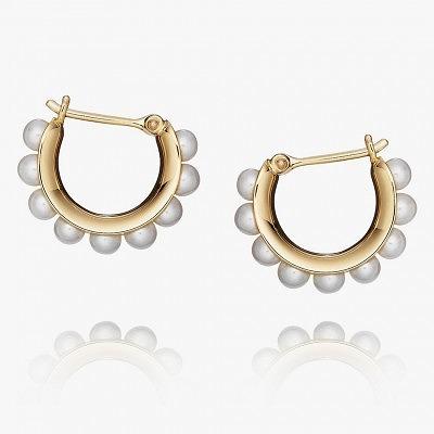 Серьги-кольца от Melanie Georgacopoulos