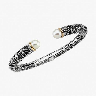 Браслет из черненого серебра. Фото: www.diamondspearlsjade.com